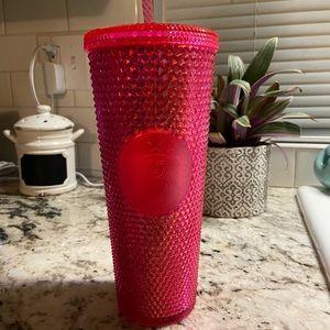Starbucks Accessories - Starbucks Sparkle Christmas Pink Tumbler